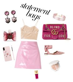 """""""blind for love"""" by ratjuli ❤ liked on Polyvore featuring Gucci, Aquazzura, Miss Selfridge, Viktor & Rolf, Yves Saint Laurent and statementbags"""