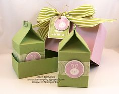 Easter Mini Milk Carton Gift Box