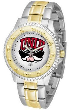 Las Vegas (UNLV) Runnin' Rebels Competitor Two Tone Watch by SunTime. $91.67. The ultimate Las Vegas (UNLV) Runnin' Rebels fan's statement, our Competitor Two-Tone timepiece offers men a classic, business-appropriate look. Features a 23kt gold-plated bezel, stainless steel case and date function. Secures to your wrist with a two-tone solid stainless steel band complete with safety clasp.. Save 12% Off!