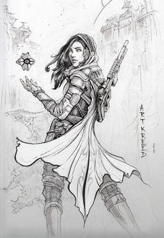Inktober 3 ~ Hunter by ArtKreed on DeviantArt Destiny Bungie, Destiny Gif, Destiny Hunter, Destiny Tattoo, Character Concept, Character Art, Concept Art, Character Design, Anime