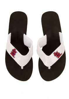 Stl White Sequin Flip Flop