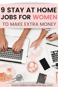 9 Stay at Home Jobs for Women at Home That You Can Start Today. Here is how to make money from home effortlessly using our tips. If you are looking for great work at home opportunities for women, this is your best bet. We have outline over 5 stay at home job for women #workfromhome #onlinejobs #makemoneyonline Hobbies That Make Money, Make Money Blogging, Money Tips, Make Money From Home, Way To Make Money, Make Money Online, Money Fast, Earning Money, Online Work From Home