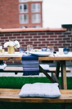 A Relaxed Rooftop Dinner Party | Rue