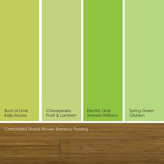 suggested spring green paint picks