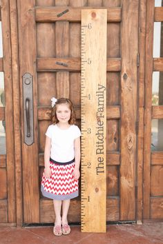 Personalized Growth Chart Vinyl Decal Kit Name by TheVinylCompany, $19.99 {I need to make one of these!}