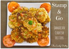 Pass the saltfish and ackee fritters, please. Jamaican Cuisine, Jamaican Dishes, Jamaican Recipes, Saltfish And Ackee, Saltfish Fritters, Healthy Cooking, Cooking Recipes, Seafood Recipes, Caribbean Recipes