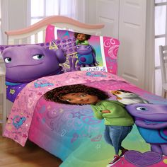 Dreamworks Home Movie Kids Comforter Bedding set Collection, Tip, Oh Girl Room, Girls Bedroom, Dreamworks Home, Kids Comforters, Living Room Furniture Arrangement, Twin Sheet Sets, Home Movies, Trendy Home, At Home Gym