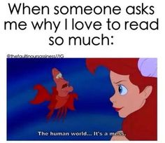 book memes 20 Disney Memes Only Book Lovers Will Understand Humour Disney, Funny Disney Memes, Funny Relatable Memes, Funny Jokes, Hilarious, Disney Quotes, I Love Books, Good Books, My Books