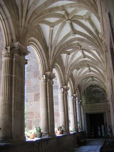 Rib Vault | barrel vaulted church nave with rib vaults over the crossing and ...