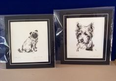 The Pensive Westie and Sitting Pug by Justine Osbourne