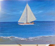 Sailing takes me away.. 8 x 10 by JustJoszie on Etsy, $185.00 Paintings For Sale, Sailing, Trending Outfits, Studio, Etsy, Vintage, Candle, Vintage Comics, Study