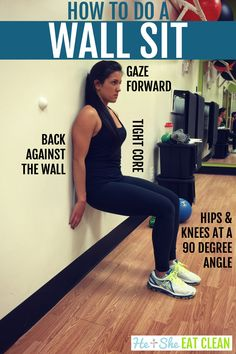 Wall sits strengthen your legs Wall Sit Challenge, Workout Challenge, Workout Tips, Fitness Legs, You Fitness, At Home Workouts, Leg Workouts, Isometric Exercises, Sweat Workout
