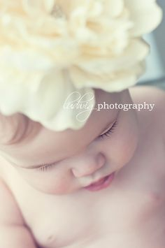 6 month photo idea... Looking down, soft filter/lighting, big bow @Holly Natale