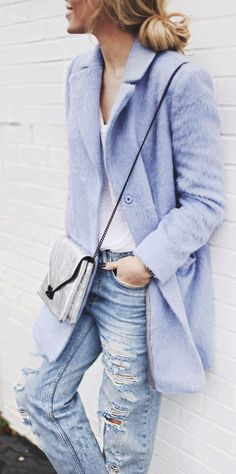 Dress up your old jeans with a swing coat. #ZenniOptical