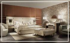 Luxury Designer Italian Upholstered Bed With Large Headboard - Juliettes Interiors Italian Furniture, Upholstered Beds, Luxurious Bedrooms, Bed Design, Luxury Bedding, Bedroom Decor, Interior Design, Interior Ideas, Home Decor