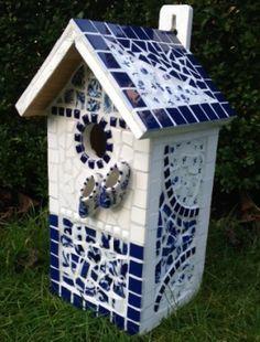 delfts blauw vogelhuisje