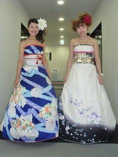 4bb0e710005 Découvrez les robes de mariées extraordinaires de ces Japonaises réalisées  à partir de leurs kimonos traditionnels   épatant !