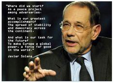 Javier Solana inspirational quote