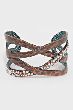 Crystal Mira Bracelet in Patina | Women's Clothes, Casual Dresses, Fashion Earrings & Accessories | Emma Stine Limited
