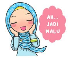 Bunga back again with new stickers that you can use everyday, let's use this stikers for you daily conversation Emoji People, Anime Muslim, Muslim Hijab, Muslim Images, Comic Face, How To Make Stickers, Islamic Cartoon, Hijab Cartoon, Line Flower