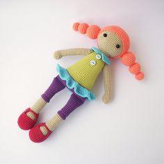 Adelina poupée poupée avec robe pantalons et par DuduToyFactory