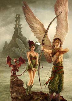 Angel fairy dragon fantasy art