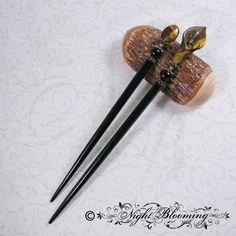 Beauty's Guardian Hair Sticks by NightBlooming on Etsy, $40.00