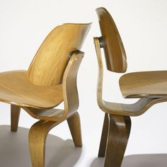 Charles and Ray Eames DCWs, pair