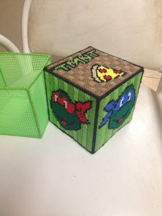 Ninja Turtle Box made for Bryon. My pattern View #1