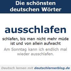 Die schönsten deutschen Wörter: ausschlafen