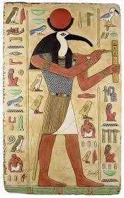 En esta imagen se puede ver una representación del dios Toth, dios de la sabiduría