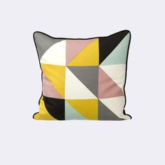 Pillows Ferm Living on YOOX. The best online selection of Pillows Ferm Living. YOOX exclusive items of Italian and international designers - Secure payments Modern Throw Pillows, Accent Pillows, Decorative Pillows, Decoration Design, Deco Design, Geometric Cushions, Geometric Pillow, Geometric Prints, Yellow Pillows