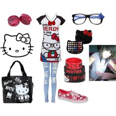 """Hello Kitty"" by emogirl2013 on Polyvore"