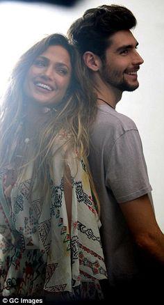 Duet: Jennifer was filming for the duet withSpanish singer-songwriter, Álvaro Soler