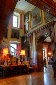 This is the entrance hall of Antony House, near Torpoint in Cornwall.