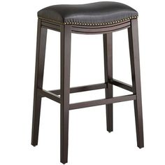 Halsted black backless bar stool from Pier One imports Island Stools, Stools For Kitchen Island, Counter Bar Stools, Kitchen Nook, Kitchen Chairs, Kitchen Redo, Painted Chairs, Metal Chairs, Bar Chairs