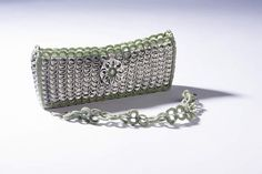 Green Crocheted Pop Tab Purse/Clutch