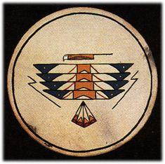 Hand painted TAOS THUNDERBIRD drum, Native American Native American Shirts, Native American Symbols, Native American Design, Native American Indians, Native American Thunderbird, Indian Artifacts, Gourd Art, Native Art, Ancient Art