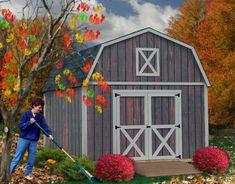 New Denver 12x20 ft Best Barns Wood Shed Barn Kit Denver1220 (50 Year Warranty!) #BestBarnKits