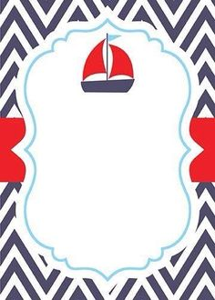 Nautical Invitations, Baptism Invitations, Baby Shower Invitaciones, Nautical Party, Boy Baptism, Baby Shower Invitation Templates, Ideas Para Fiestas, Free Prints, Silhouette Design