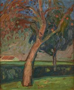 Le pommier by Gustave de Smet