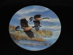 """1990 Dominion China Birds of the North """"Golden Flight: Canada Geese"""" Collector…"""
