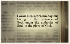 """Coram Deo 