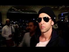 Hrithik Roshan spotted at Mumbai airport.