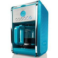 A perfect way to start your day, this 12-cup coffee maker features a programmable timer and automatic shut off for your safety. With its unique dot texture, gorgeous colors, and sleek design BELLA Dots coffee maker will bring life to your kitchen.