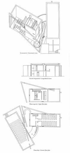 4x4 house tadao ando plan  elevation  section