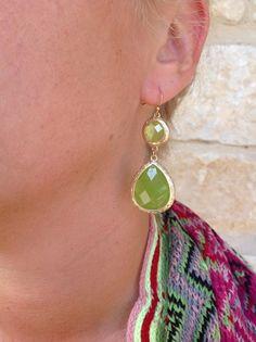 9-52 Ippolita-inspired green double stone earrings