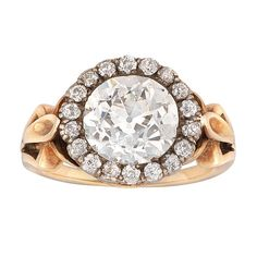 Victorian Diamond Cluster Ring | From a unique collection of vintage cluster rings at http://www.1stdibs.com/jewelry/rings/cluster-rings/