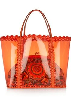 dolce and gabbana miss escape pvc tote and canvas shoulder bag Dolce & Gabbana Miss Escape PVC Tote and Canvas Shoulder Bag Dolce And Gabbana Handbags, Dolce Gabbana, Burberry Prorsum, My Bags, Purses And Bags, Orange Fashion, Clear Bags, Canvas Shoulder Bag, Straw Bag