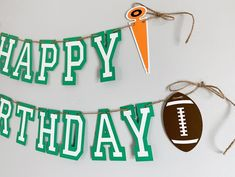 Football birthday party decorations designed and crafted by Declan & Smith Party Décor. #footballdecorations #footballbirthdayparty Baseball First Birthday, Football Birthday, First Birthday Photos, Sports Birthday, Football Party Decorations, First Birthday Party Decorations, Birthday Photo Banner, Happy Birthday Banners, Fall Birthday Parties